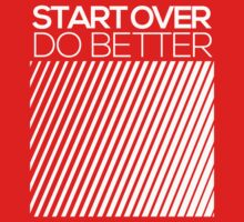 START OVER - DO BETTER Typography TEXT One Piece - Short Sleeve