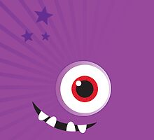 IPhone :: one-eyed monster face grin - purple by Kat Massard