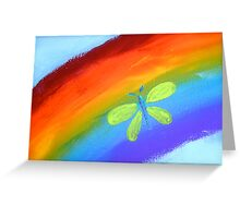 Rainbow Butterfly Greeting Card