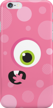 IPhone :: one-eyed monster face shock - pink by Kat Massard