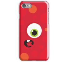 IPhone :: one-eyed monster face shock - red iPhone Case/Skin