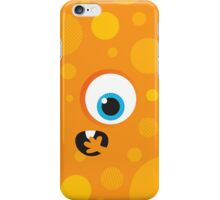 IPhone :: one-eyed monster face shock - orange iPhone Case/Skin