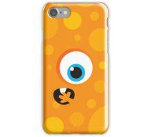 IPhone :: one-eyed monster face shock - orange iPhone Case/Skin