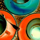 Neon Cups & Saucers by Tamarra