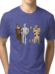 Why does the scarecrow keep saying 'brains'?! BLUE! Tri-blend T-Shirt