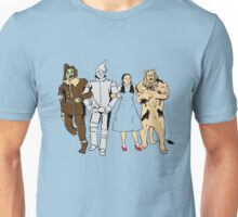 Why does the scarecrow keep saying 'brains'?! BLUE! Unisex T-Shirt
