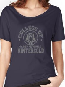 College of Hintercold - Grey Women's Relaxed Fit T-Shirt