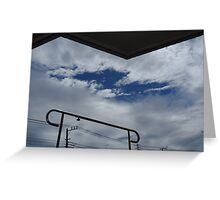 The cloth hangers and clouds Greeting Card