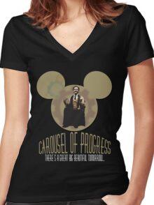 Carousel of Progress: THE SHIRT! Women's Fitted V-Neck T-Shirt