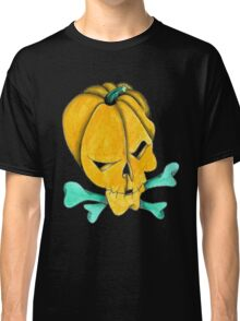 Pumpkin Skull Classic T-Shirt