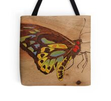 PYROGRAPHY: Richmond Birdwing Butterfly Tote Bag