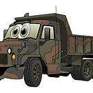 Military Dump Truck Cartoon by Graphxpro