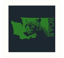 ROAR (Green) Art Print