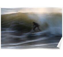Speed Blur Surfer Poster