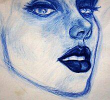 Blue Girl by brandondraws