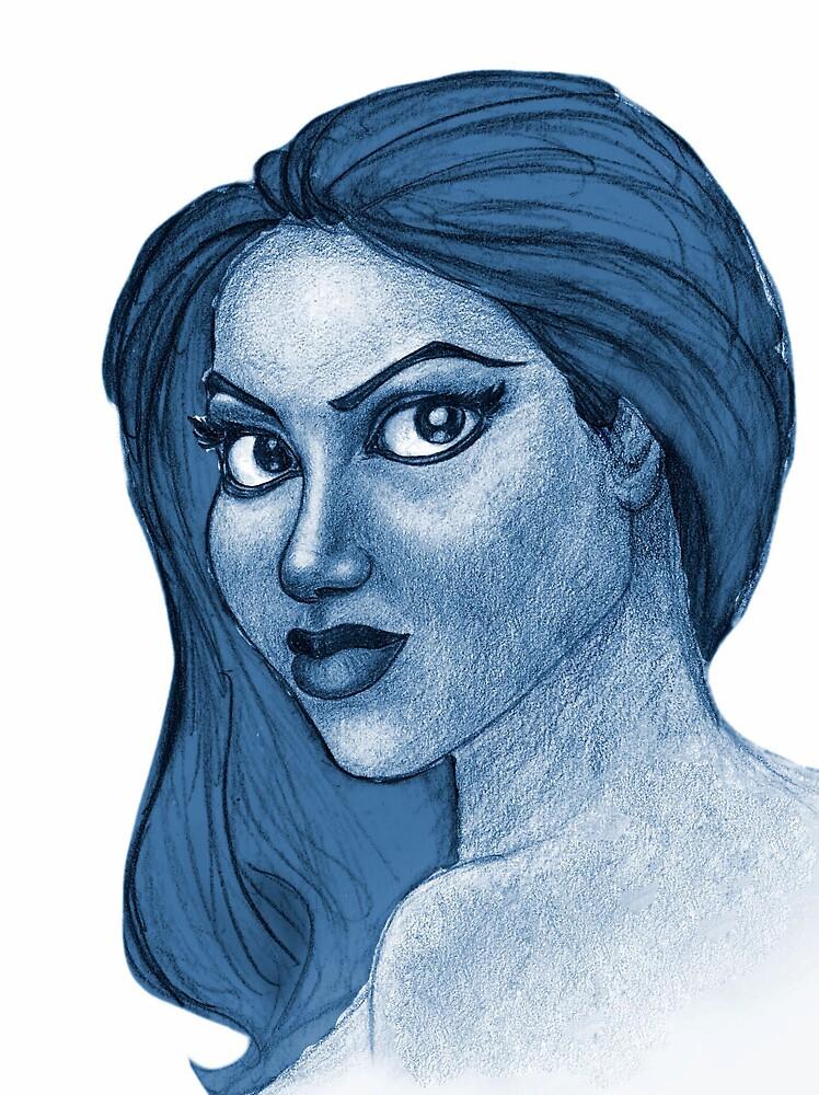 Blue Girl 2 by brandondraws