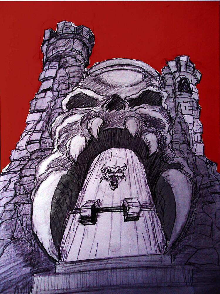 Grey Skull by brandondraws