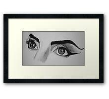 Lady Gaga Telephone Eyes Framed Print