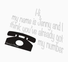 Jenny's phone number Kids Tee