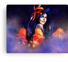 Jack-O-Lantern Witch Canvas Print