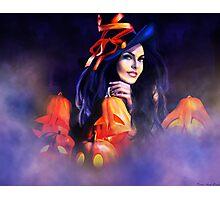 Jack-O-Lantern Witch Photographic Print