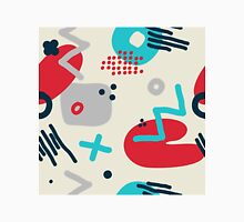 Modern hand draw colorful abstract seamless pattern  Unisex T-Shirt