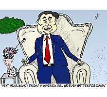 China on Black Friday business cartoon Photographic Print