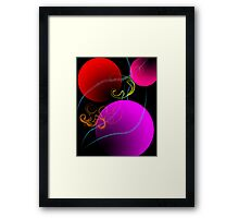 Colored Baubles Framed Print