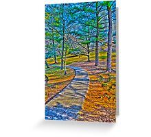 colorful path Greeting Card