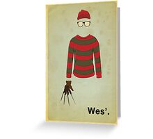 Wes'. Greeting Card