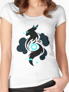 Shining Night - Shiny Umbreon Women's Fitted Scoop T-Shirt