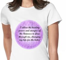 Affirmations 1 Womens Fitted T-Shirt