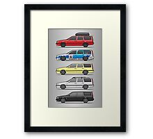 Stack of Volvo 850R 855R T5 Turbo Station Wagons Framed Print