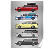 Stack of Volvo 850R 855R T5 Turbo Station Wagons Poster