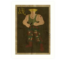 FIGHT: Street Fighter #2: Guile Art Print