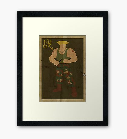 FIGHT: Street Fighter #2: Guile Framed Print