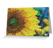 Sunflower Machine Dreams Greeting Card