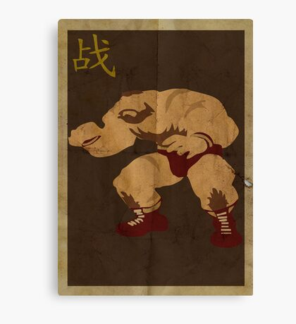 FIGHT: Street Fighter #2: Zangief Canvas Print