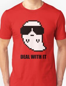 Deal With It Ghost - With Text T-Shirt