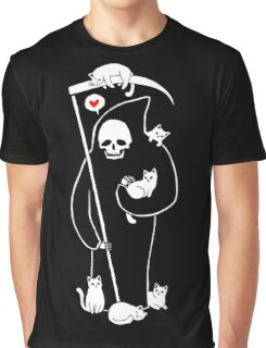 Death Is A Cat Person Graphic T-Shirt