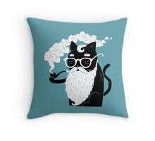 Whiskers And Pipe Throw Pillow