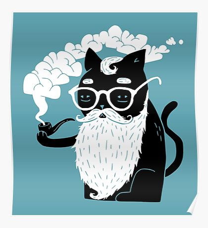 Whiskers And Pipe Poster