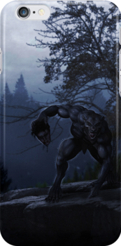 Howler; werewolf iphone case by Kate Bloomfield