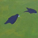 Rooks, Grass II by eolai