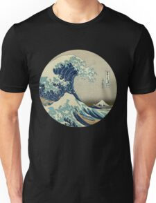 Great Wave off Kanagawa circle Unisex T-Shirt
