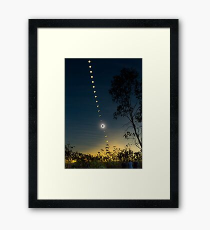 Solar Eclipse Composite 2012 Framed Print