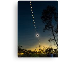 Solar Eclipse Composite 2012 Canvas Print
