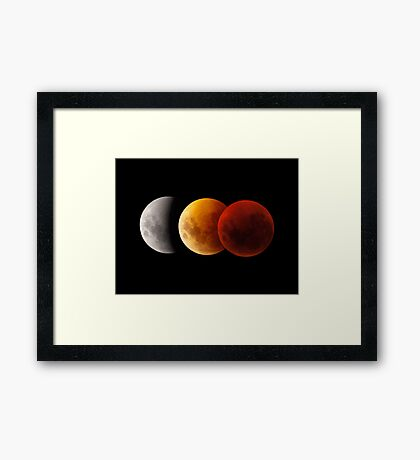 Lunar Eclipse - Three Moons Framed Print