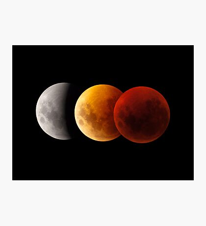 Lunar Eclipse - Three Moons Photographic Print