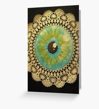 Delicate Eye Lace Greeting Card